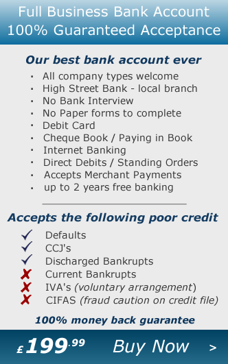Business Bank Account - Guaranteed Business Bank Account