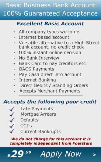 Guaranteed Basic Business Bank Account