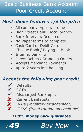 Business Bank Account - Guaranteed Basic Bank Account